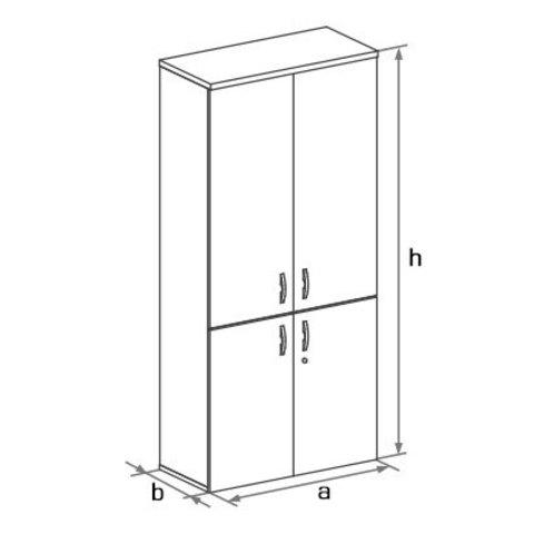 Шкаф закрытый высокий с 4-мя глухими дверцами БОСТОН