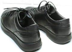 Осенние мужские кеды кроссовки черные кожаные Ikoc 1725-1 Black.