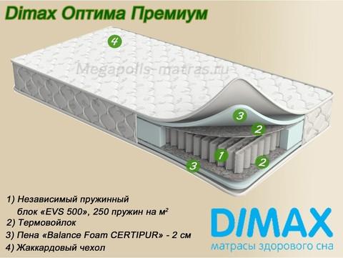 Матрас Dimax Оптима Премиум от Мегаполис-матрас