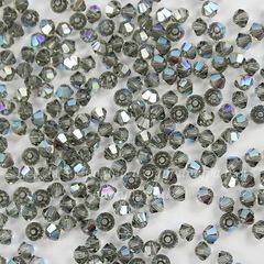 5328 Бусина - биконус Сваровски Black Diamond Shimmer 3 мм, 10 штук