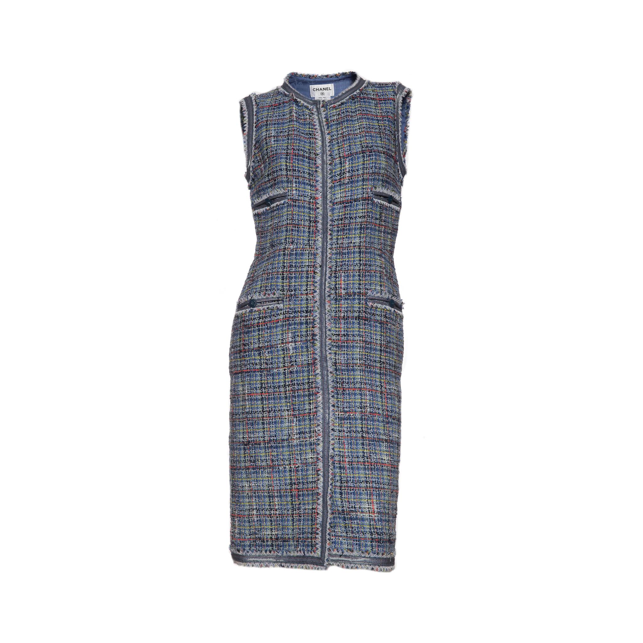 Стильное платье из твида от Chanel, 38 размер.