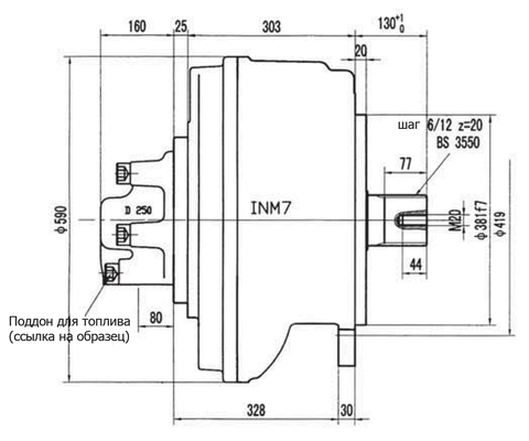 Гидромотор INM7-2000