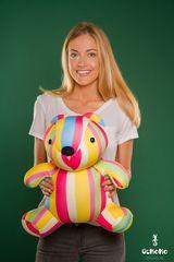 Подушка-игрушка антистресс Gekoko «Мишка Мультифрукт» 1