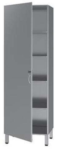 Шкаф нержавеющая сталь  медицинский БТ-ШнпР-6 - фото