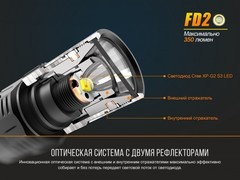 Купить недорого фонарь светодиодный Fenix FD20, 350 лм, 2-АА