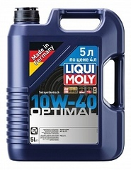 Моторное масло LIQUI MOLY Optimal 10W-40 5 л по цене 4