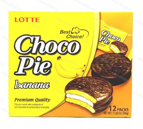 Пирожное Choco Pie banana, Корея, 336 гр.