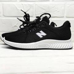 Черные классические кроссовки с белой подошвой Fashion Leisure QQ116.