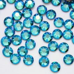 2078 Стразы Сваровски горячей фиксации Blue Zircon Shimmer ss16 (3,8-4 мм), 10 штук