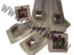 Мезороллер фотонный красный (светодиодный) с вибрацией со сменным валиком 540 титановых игл