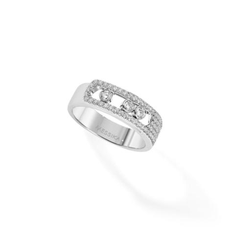 47946- Кольцо Move из серебра с цирконами двигающимися цирконами