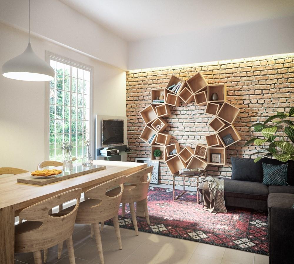 prachtige houten wandkast als muurdecoratie