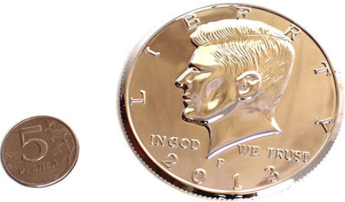 Гигантская монета (полдоллара) 70 мм