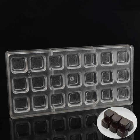Поликарбонатная форма для шоколада  Кубики 21в1 (25х25мм)