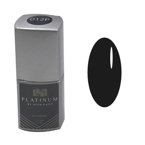 PLATINUM, гель-лак Black  № 012P , ( 12 ml)  черный