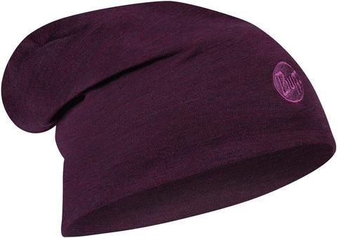 Теплая шерстяная шапка-бини Buff Hat Wool Heavyweight Purplish Multi Stripes фото 1