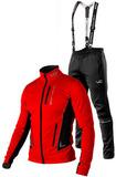 Утеплённый лыжный костюм 905 Victory Code Speed Up Red с лямками мужской