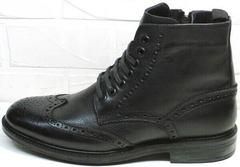 Модные зимние мужские ботинки с мехом LucianoBelliniBC3801L-Black .