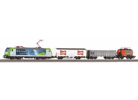 SmartControl light Стартовый набор с электровозом BLS Re 485 и 3-мя грузовыми вагонами, рельсы на подложке