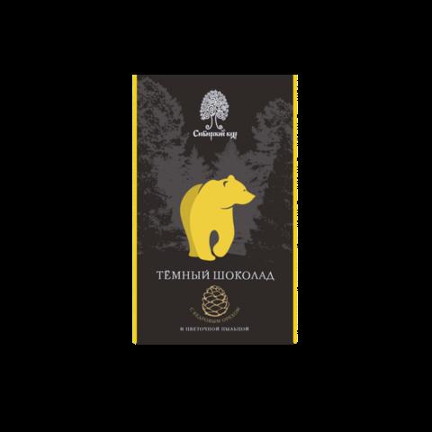 Шоколад тем. с цветоч/пыльц. и кедр/орех. 100гр Сибирский кедр