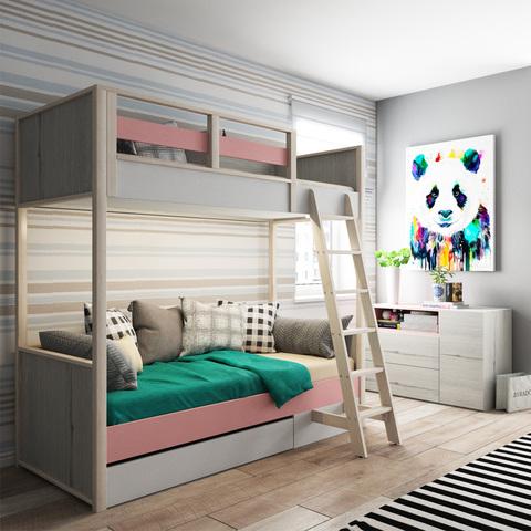 Кровать 2х-ярусная с фальшпанелью УНИВЕРСАЛЬНАЯ «Нью тон»