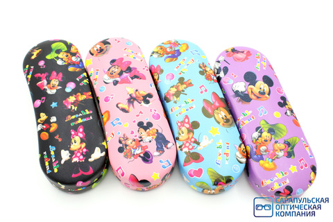 Футляр для очков детский на пружине (хлопушка) Mickey Mouse