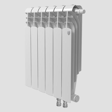 Биметаллический радиатор с нижним правым подключением Vittoria Super 500 VD - 6 секций
