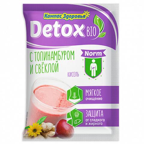 Компас здоровья Кисель на фруктозе detox bio NORM с топинамбуром и свеклой 25 г