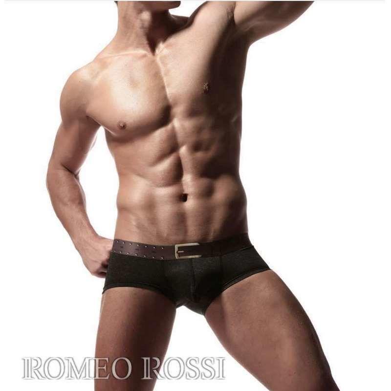 Мужские трусы хипсы черные ROMEO ROSSI RR5005