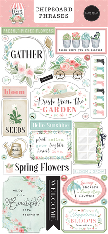 Чипборд  Carta Bella - коллекция Flower Garden - 31 шт.