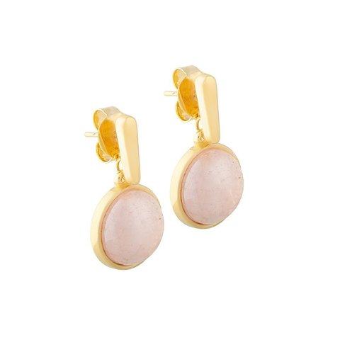 Серьги pearl quartz rose A1995.9 R/G