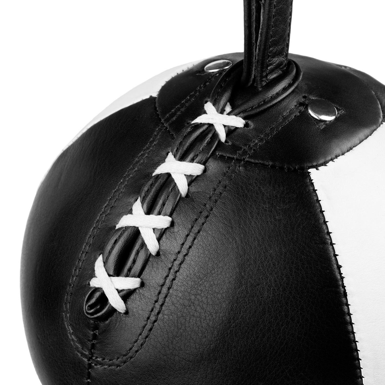 Груша на растяжках Dozen Absolute черно-белая вид сверху шнуровка