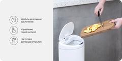 Умное мусорное ведро Xiaomi Ninestars Sensor Trash Can, 10 л, белый (DZT-10-29S)