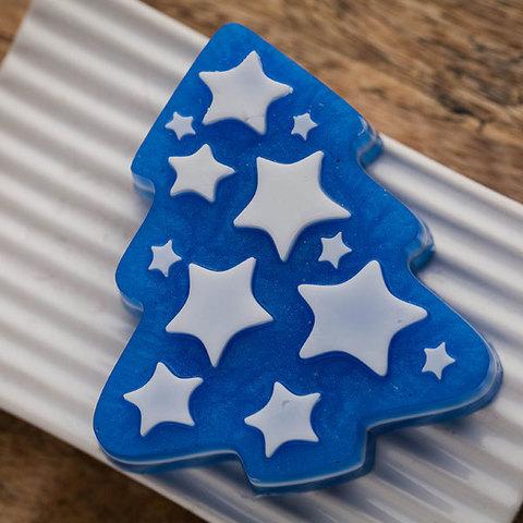 Форма для мыла Елка со звездами