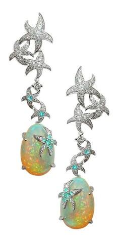 Купить серьги Морская звезда - Магазин тельняшек.ру 8-800-700-93-18