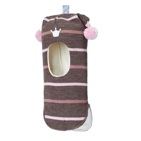 Kivat Wool girls шлем розовая полоска (471/74)