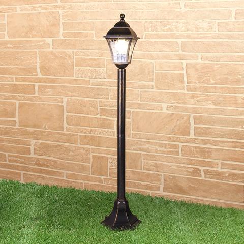 Apus F черное золото уличный светильник на столбе IP44 GL 1009F