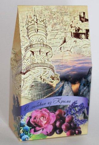 «С любовью из Крыма» набор мыло и мочалка™Крымская Коллекция
