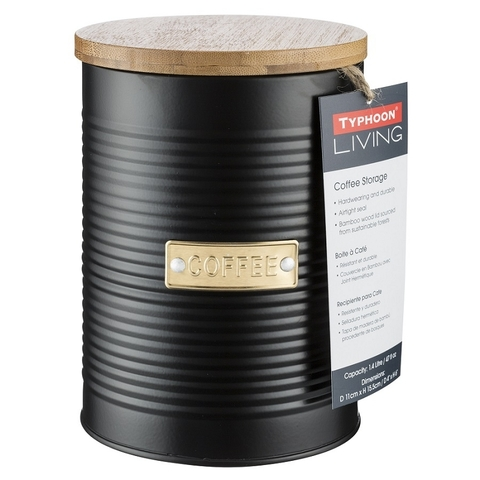 Ёмкость для хранения кофе Otto чёрная 1,4 л