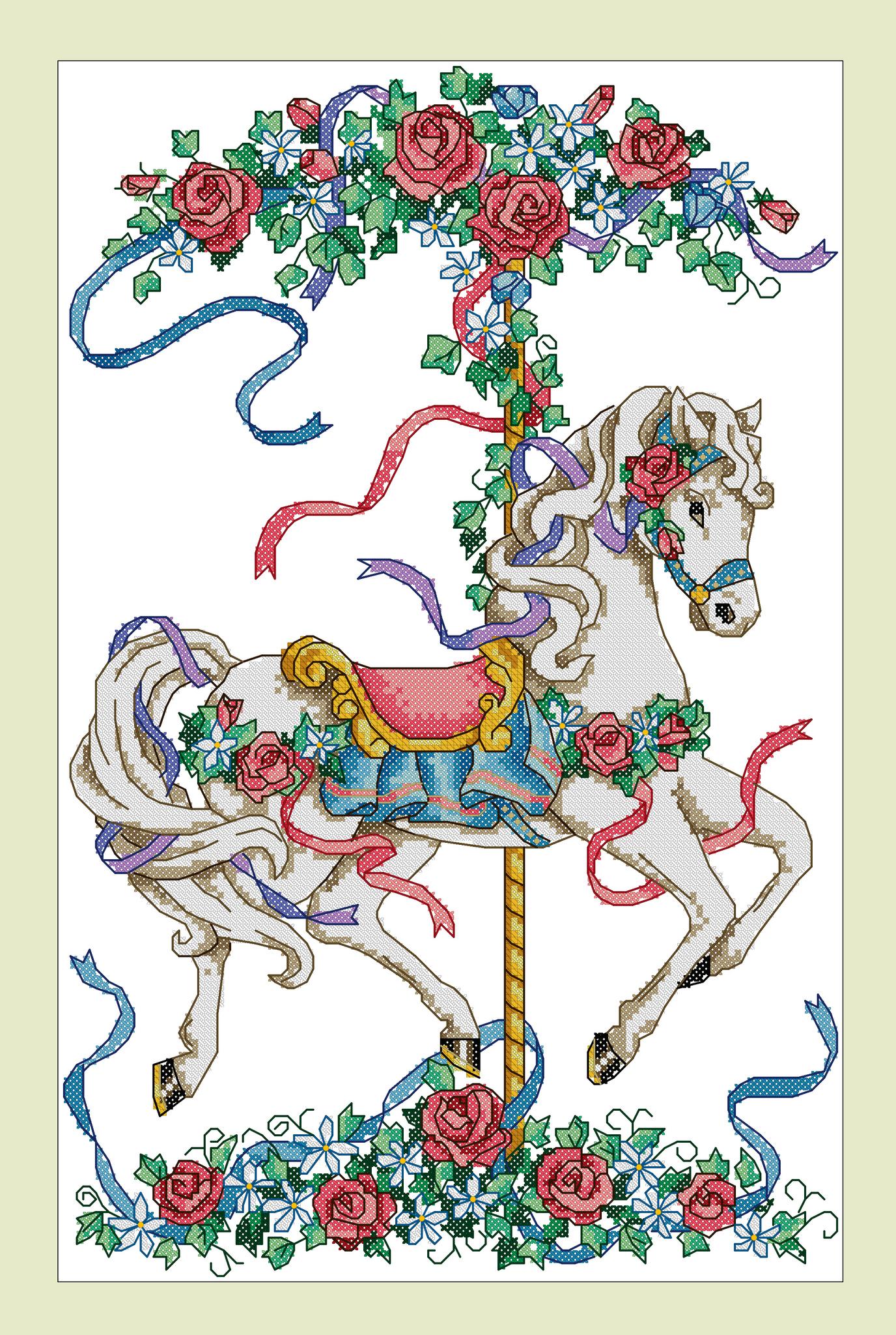 Набор для вышивания Розовая карусель. Арт. 3001