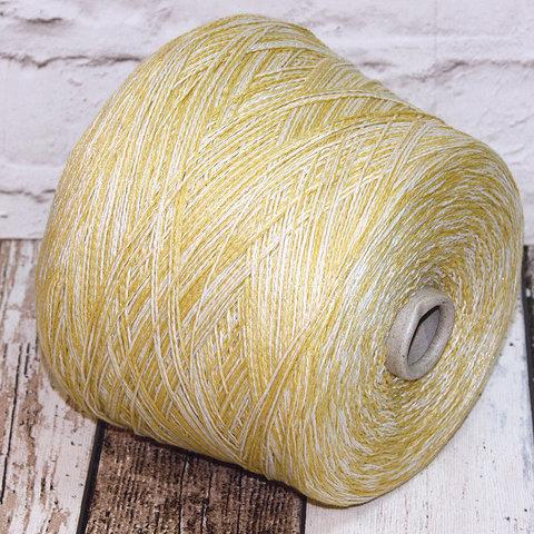 Смесовка со льном Casa Del Filato / BERRY  320 бело-желтый