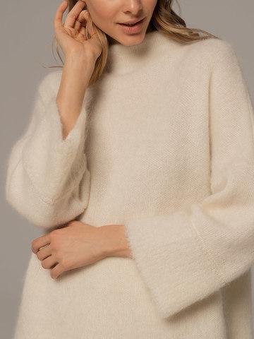 Женский джемпер молочного цвета из шерсти - фото 4