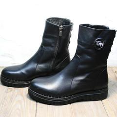 Полусапожки женские зимние G.U.E.R.O G019 8556 Black