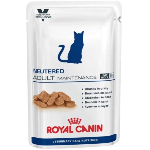 Влажные корма Пауч для кастрированных/стерилизованных котов и кошек, Royal Canin Neutered Adult Maintenance, с момента операции до 7 лет пауч_кастрир_кот.jpg
