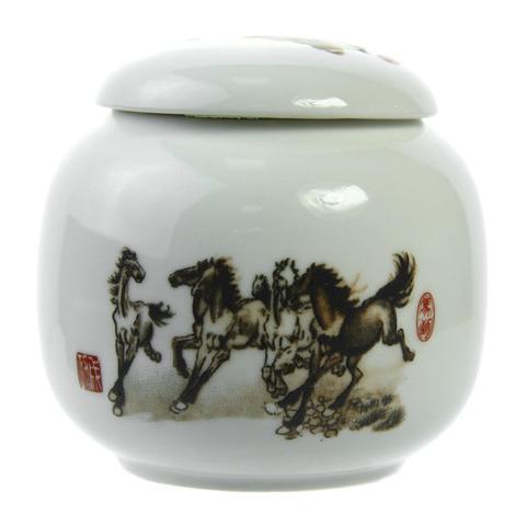 Чайница Лошади, фарфор, 220 мл