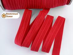 Резинка для повязок  с легким блеском красная 16 мм