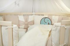 Комплект постельного в детскую кроватку Бантик