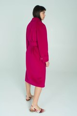 Пальто длины миди с поясом