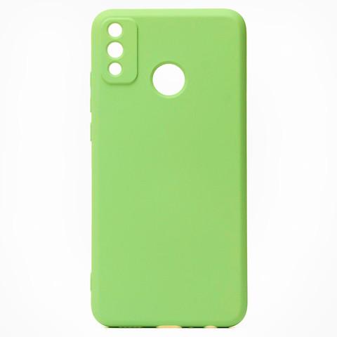 Чехол для Huawei Honor 9X Lite Софт тач мягкий эффект | микрофибра светло-зеленый