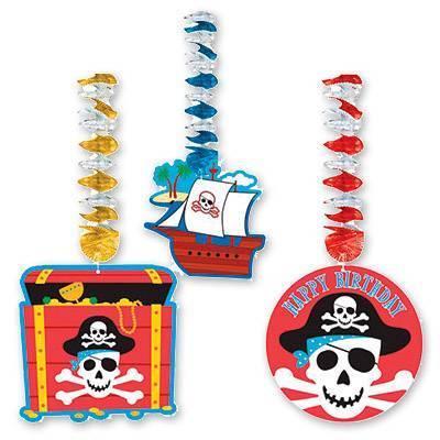 Фигурки на пружинке Пираты 3шт